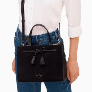 Authentic KateSpade hayes suede small satchel